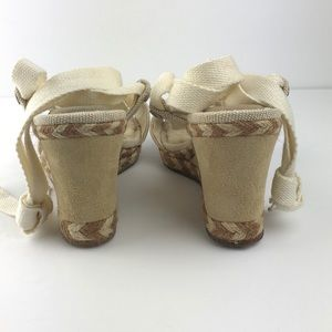 UGG Shoes - UGG Tan Leather & Sheep Skin Wedge Sandals size 6